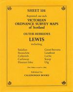 Scottish Victorian Ordnance Survey Map No. 104 Lewis