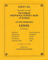 Scottish Victorian Ordnance Survey Map No. 104 Lewis