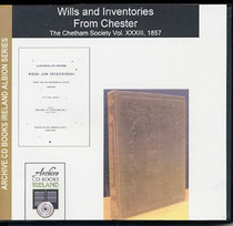 Lancashire and Cheshire Wills and Inventories from the Ecclesiastical Court, Chester Vol. 33