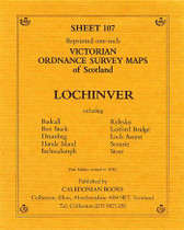 Scottish Victorian Ordnance Survey Map No. 107 Lochinvar