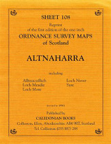 Scottish Victorian Ordnance Survey Map No. 108 Altnaharra