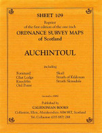 Scottish Victorian Ordnance Survey Map No. 109 Auchintoul
