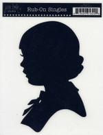 Jenni Bowlin Rub-on Silhouette Girl