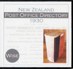 New Zealand Post Office Directory 1930 (Wise)