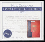 New Zealand Post Office Directory 1931 (Wise)