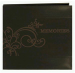 Pioneer 12x12 Embossed Scroll Leatherette 'Memories' Album (Brown)
