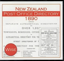 New Zealand Post Office Directory 1890 (Wise)