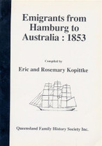 Emigrants From Hamburg to Australia 1853