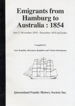 Emigrants From Hamburg to Australia 1854