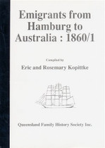 Emigrants From Hamburg to Australia 1860-61