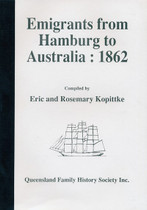 Emigrants From Hamburg to Australia 1862