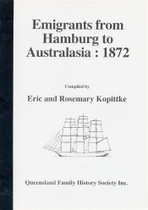 Emigrants From Hamburg to Australia 1872