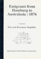 Emigrants From Hamburg to Australia 1876