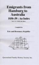 Index to Emigrants From Hamburg to Australia 1850-1859