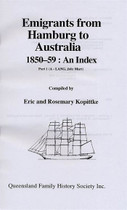 Index to Emigrants From Hamburg to Australia 1850-1859