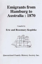 Emigrants From Hamburg to Australia 1870