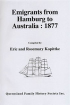 Emigrants From Hamburg to Australia 1877