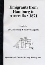 Emigrants From Hamburg to Australia 1871