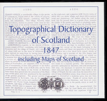 Lewis's Topographical Dictionary of Scotland 1847 and Atlas - CD