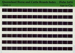 Queensland Horse and Cattle Brands Index 1880-1889