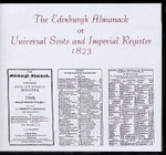 Edinburgh Almanack or Universal Scots and Imperial Register 1823 - CD