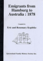 Emigrants From Hamburg to Australia 1878