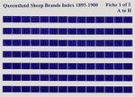 Queensland Sheep Brands Index 1895-1900