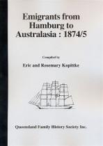 Emigrants from Hamburg to Australasia 1874/1875