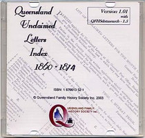 Queensland Unclaimed Letters Index 1860-1874