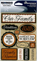 Reminisce Signature Stickers: Our Family