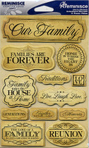 Reminisce Signature Stickers: Family 3D