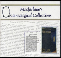 Macfarlane's Genealogical Collections - CD