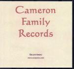 Cameron Family Records
