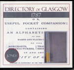 Directory of Glasgow 1787 (Jones) - CD