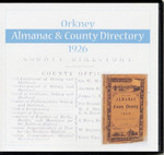 Orkney 1926 Peace's Almanac and County Directory - CD