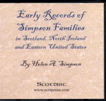 Early Records of Simpson Families in Scotland, North Ireland and Eastern United States