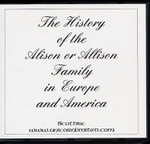 The History of the Alison or Allison Family in Europe and America