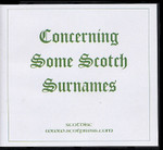 Concerning Some Scottish Surnames