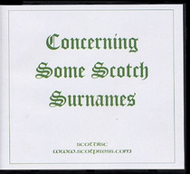 Concerning Some Scottish Surnames