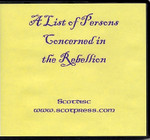 A List of Persons Concerned in the Rebellion 1745-1746