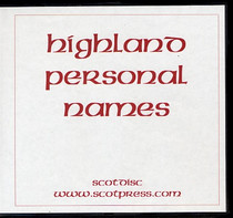 Highland Personal Names