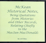 McKean Historical Notes being Records relating Chiefly to the MacIan-MacDonalds