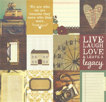 Simple Stories 12x12 Legacy Elements Journaling (12 boxes/page)