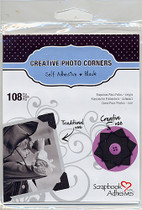 3L Classic Photo Corners: Black (pack 108)