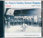 St Peter's Radley School Register, Oxford 1847-1923