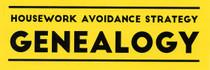 Housework Avoidance Strategy: Genealogy Sticker