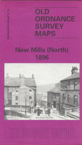 Town Map Derbyshire: New Mills (North) 1896