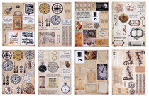 Meg's Garden 8x11 Time Ephemera Cut-Outs (pack of 8 sheets)