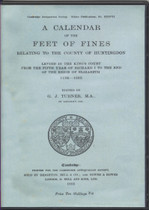 A Calendar of the Feet of Fines of the County of Huntingdon 1194-1603