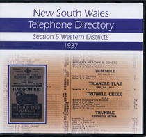 New South Wales Telephone Directory 1937: Section 5, Western Districts